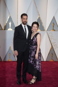 Dan Krauss, Oscar® nominee, arrives with a guest on the red carpet of The 89th Oscars® at the Dolby® Theatre in Hollywood, CA on Sunday, February 26, 2017.