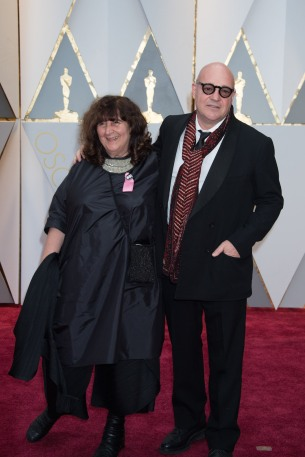 Donatella Palermo and Gianfranco Rosi, Oscar® nominees, arrive on the red carpet of The 89th Oscars® at the Dolby® Theatre in Hollywood, CA on Sunday, February 26, 2017.