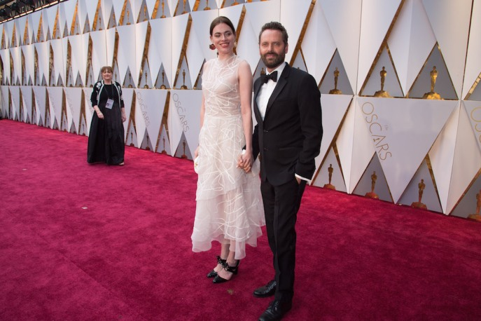 Oscars® nominee for Best Music (Original Score), Dustin O'Halloran, and guest, arrive on the red carpet at The 89th Oscars® at the Dolby® Theatre in Hollywood, CA on Sunday, February 26, 2017.