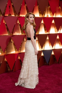 Emma Roberts arrives on the red carpet of The 89th Oscars® at the Dolby® Theatre in Hollywood, CA on Sunday, February 26, 2017.