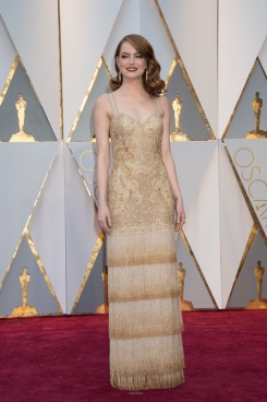 Emma Stone, Oscar® nominee, arrives on the red carpet of The 89th Oscars® at the Dolby® Theatre in Hollywood, CA on Sunday, February 26, 2017.