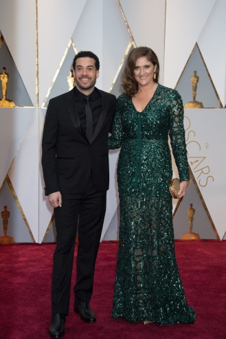 Ezra Edelman and Caroline Waterlow, Oscar® nominees, arrive on the red carpet of The 89th Oscars® at the Dolby® Theatre in Hollywood, CA on Sunday, February 26, 2017.