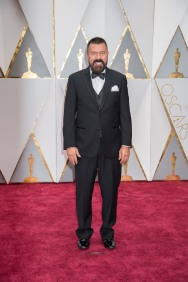 Oscar® nominee for Production Design, Gene Serdena arrives on the red carpet at The 89th Oscars® at the Dolby® Theatre in Hollywood, CA on Sunday, February 26, 2017.