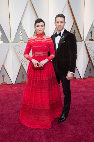 Ginnifer Goodwin and Josh Dallas arrives on the red carpet of The 89th Oscars® at the Dolby® Theatre in Hollywood, CA on Sunday, February 26, 2017.