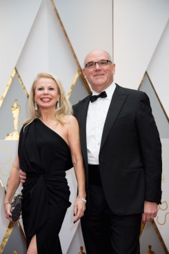 Guest and Howard Barish, Oscar® nominee, arrives on the red carpet of The 89th Oscars® at the Dolby® Theatre in Hollywood, CA on Sunday, February 26, 2017.