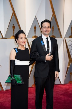 Lin -Manuel Miranda, Oscar® nominee, and Luz Towns-Miranda arrives on the red carpet of The 89th Oscars® at the Dolby® Theatre in Hollywood, CA on Sunday, February 26, 2017.