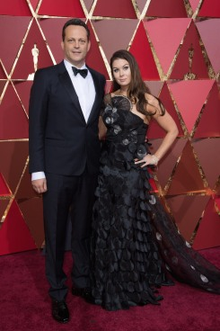 Actor Vince Vaughn and wife, Kyla Weber, arrive on the red carpet at The 89th Oscars® at the Dolby® Theatre in Hollywood, CA on Sunday, February 26, 2017.