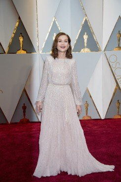 Isabelle Huppert, Oscar® nominee, arrives on the red carpet of The 89th Oscars® at the Dolby® Theatre in Hollywood, CA on Sunday, February 26, 2017.
