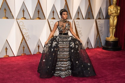 Janelle Monae arrives at The 89th Oscars® at the Dolby® Theatre in Hollywood, CA on Sunday, February 26, 2017.