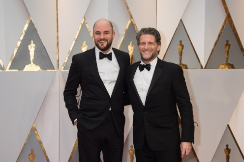 Jordan Horowitz, Oscar® nominee, and Gary Gilbert arrives on the red carpet of The 89th Oscars® at the Dolby® Theatre in Hollywood, CA on Sunday, February 26, 2017.