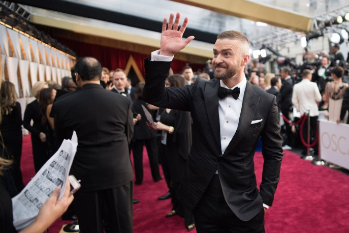 Oscar®-nominee Justin Timberlake and Jessica Biel arrivesat The 89th Oscars® at the Dolby® Theatre in Hollywood, CA on Sunday, February 26, 2017.