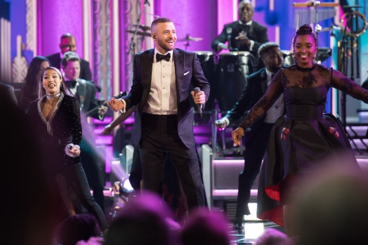 Oscar® Nominee, Justin Timberlake, performs at The 89th Oscars® at the Dolby® Theatre in Hollywood, CA on Sunday, February 26, 2017.