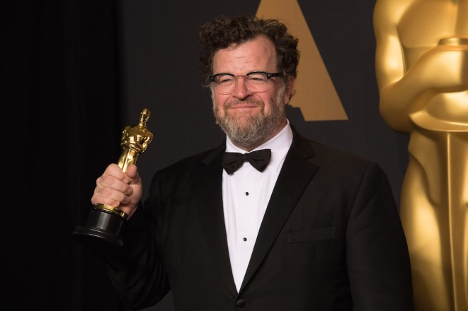 "Kenneth Lonergan poses backstage with the Oscar® for Original screenplay, for work on ""Manchester by the Sea"" during the live ABC Telecast of The 89th Oscars® at the Dolby® Theatre in Hollywood, CA on Sunday, February 26, 2017."