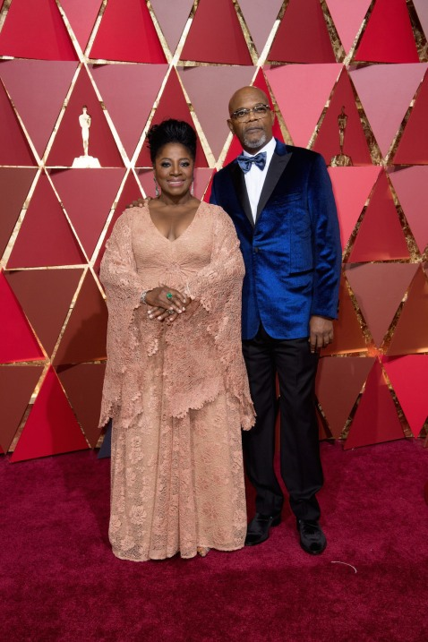 LaTanya Richardson and Samuel L. Jackson arrive on the red carpet of The 89th Oscars® at the Dolby® Theatre in Hollywood, CA on Sunday, February 26, 2017.