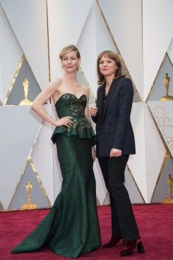 Maren Ade (right), Oscar® nominee, and guest arrives on the red carpet of The 89th Oscars® at the Dolby® Theatre in Hollywood, CA on Sunday, February 26, 2017.