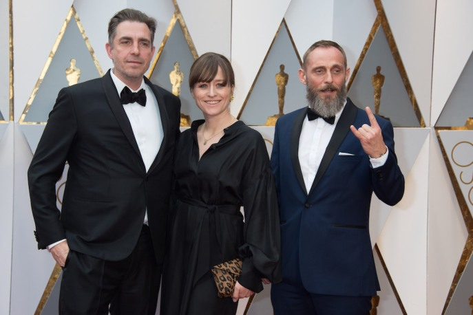 Oscar®-nominee Martin Zandvliet, Roland Moller and guest arrive at The 89th Oscars® at the Dolby® Theatre in Hollywood, CA on Sunday, February 26, 2017.