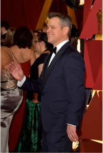Matt Damon Jewels Oscars® red carpet