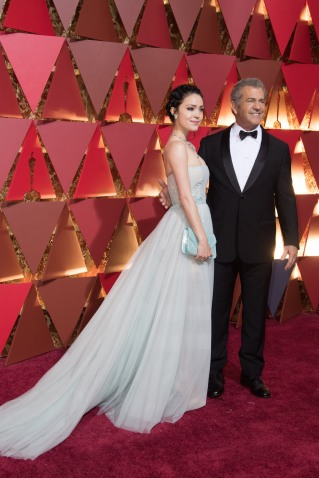 Mel Gibson, Oscar® nominee, and Rosalind Ross arrive on the red carpet of The 89th Oscars® at the Dolby® Theatre in Hollywood, CA on Sunday, February 26, 2017.