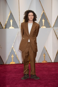 Mica Levi, Oscar® nominee, arrives on the red carpet of The 89th Oscars® at the Dolby® Theatre in Hollywood, CA on Sunday, February 26, 2017.