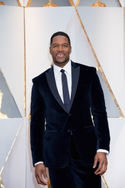 Michael Strahan arrives on the red carpet of The 89th Oscars® at the Dolby® Theatre in Hollywood, CA on Sunday, February 26, 2017.