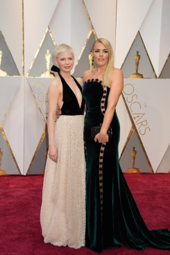 Oscar®-nominee Michelle Williams and Busy Philipps arrive at The 89th Oscars® at the Dolby® Theatre in Hollywood, CA on Sunday, February 26, 2017.
