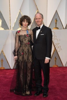 Oscars® nominee for Original Screenplay Mike Mills and guest arrive on the red carpet at The 89th Oscars® at the Dolby® Theatre in Hollywood, CA on Sunday, February 26, 2017.