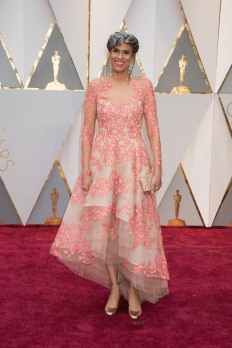 Producer Mimi Valdez arrives on the red carpet at The 89th Oscars® at the Dolby® Theatre in Hollywood, CA on Sunday, February 26, 2017.
