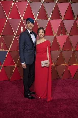 Mohen Leo and Guest, Oscar® nominee, arrives on the red carpet of The 89th Oscars® at the Dolby® Theatre in Hollywood, CA on Sunday, February 26, 2017.