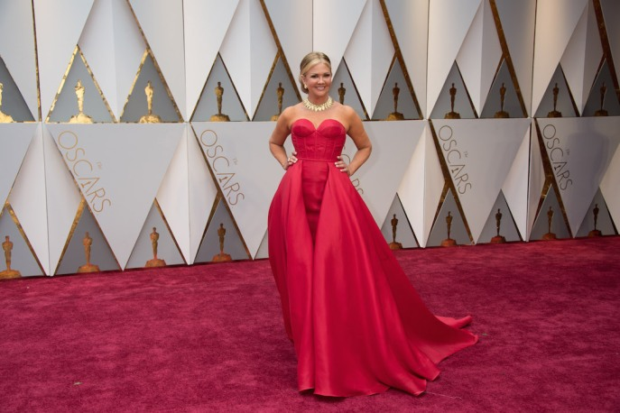 Nancy O'Dell arrives on the red carpet of The 89th Oscars® at the Dolby® Theatre in Hollywood, CA on Sunday, February 26, 2017.