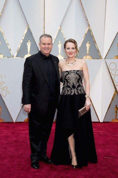 Oscar®-nominee Neil Corbould and guest arrive at The 89th Oscars® at the Dolby® Theatre in Hollywood, CA on Sunday, February 26, 2017.