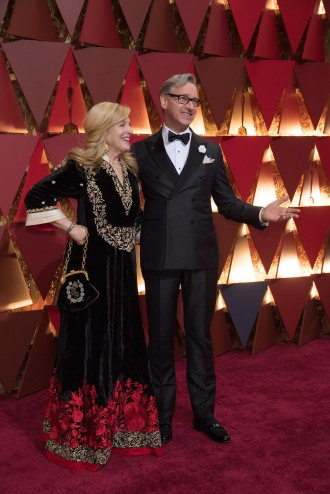 Paul Feig and wife, Laurie Karon, arrive on the red carpet at The 89th Oscars® at the Dolby® Theatre in Hollywood, CA on Sunday, February 26, 2017.