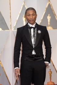 Oscars® nominee Pharrell Williams arrives on the red carpet at The 89th Oscars® at the Dolby® Theatre in Hollywood, CA on Sunday, February 26, 2017.