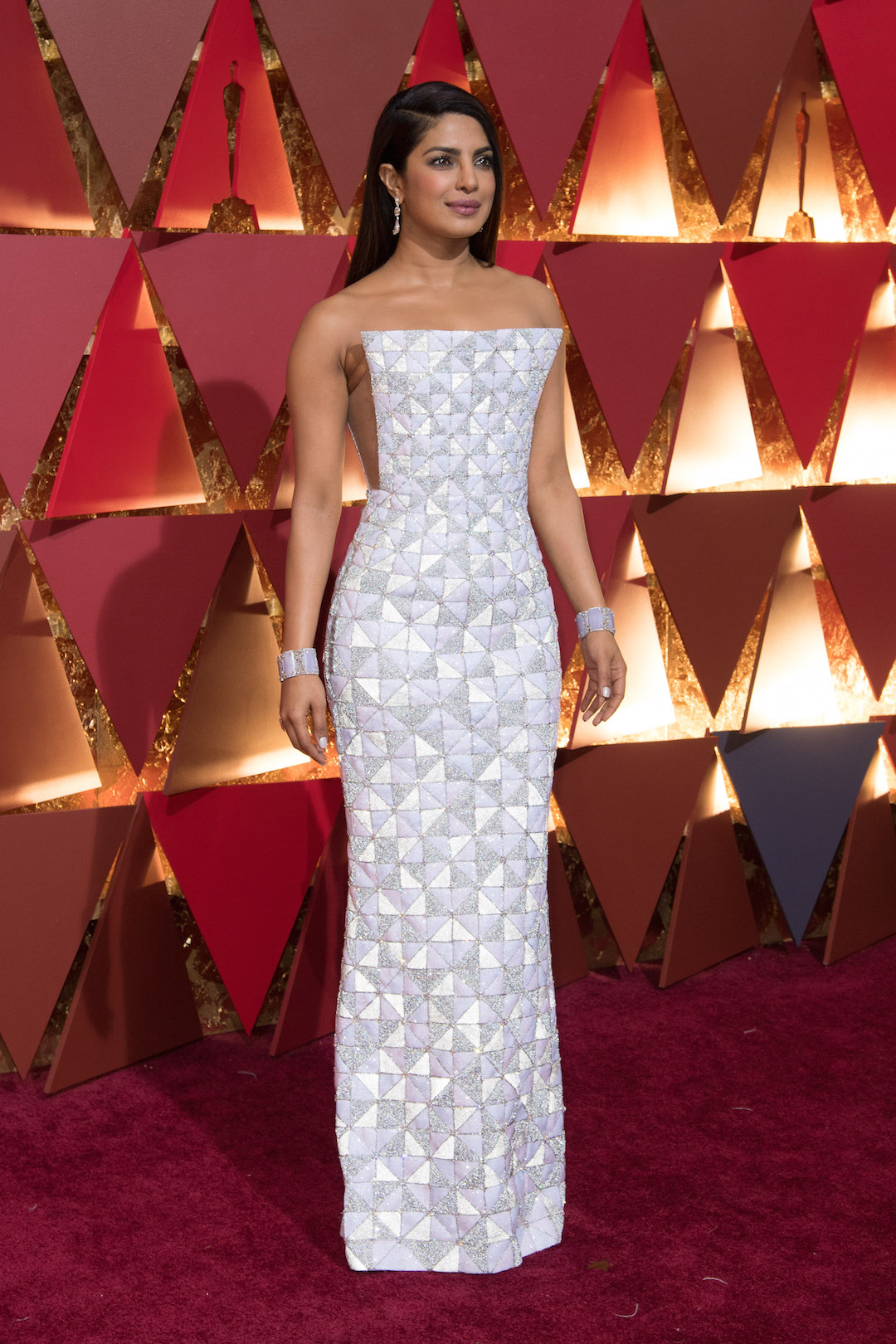 Priyanka Chopra arrive on the red carpet of The 89th Oscars®