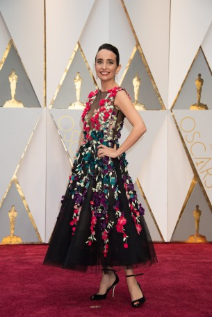 Raphaela Neihausen, Oscar® nominee, arrives on the red carpet of The 89th Oscars® at the Dolby® Theatre in Hollywood, CA on Sunday, February 26, 2017.
