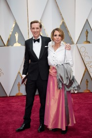 Robert Mackenzie, Oscar® nominee, and guest arrive on the red carpet of The 89th Oscars® at the Dolby® Theatre in Hollywood, CA on Sunday, February 26, 2017.
