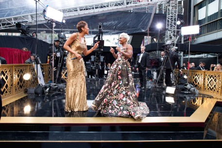 Robin Roberts and Cynthia Erivo on the red carpet of The 89th Oscars® at the Dolby® Theatre in Hollywood, CA on Sunday, February 26, 2017.