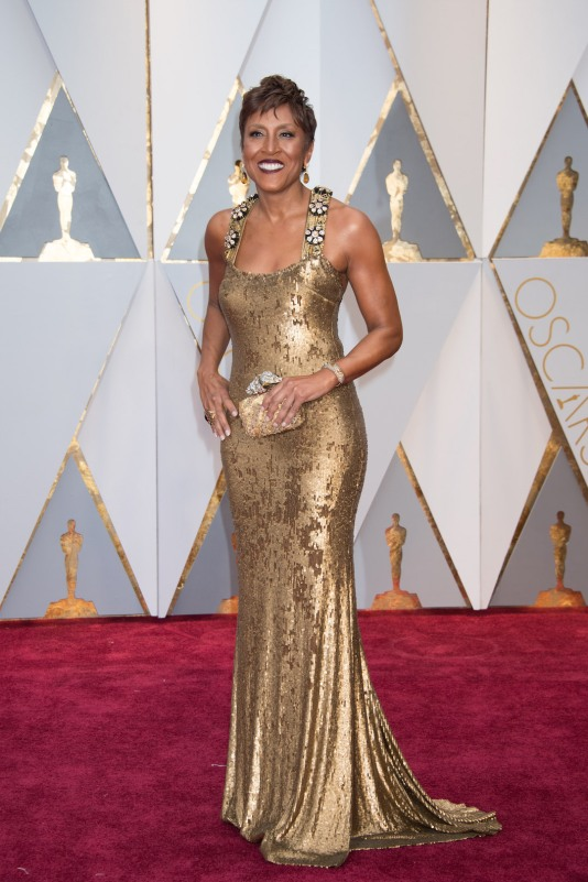Robin Roberts, Oscar® nominee, arrives on the red carpet of The 89th Oscars® at the Dolby® Theatre in Hollywood, CA on Sunday, February 26, 2017.