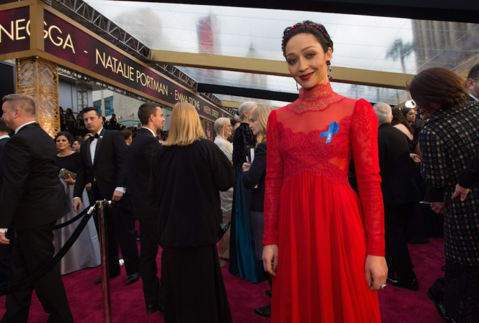 Oscar® Nominee, Ruth Negga, arrives on the red carpet of The 89th Oscars® at the Dolby® Theatre in Hollywood, CA on Sunday, February 26, 2017.