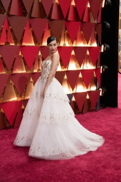 Sofia Carson, Oscar® nominee, arrives on the red carpet 4chion Lifestyle