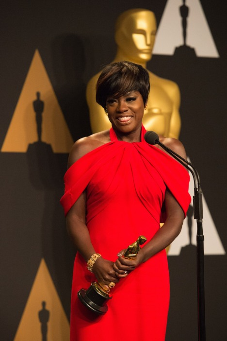 Viola Davis Oscars® Backstage Celebrities