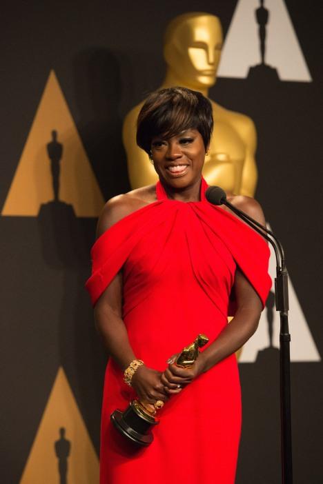 Viola Davis Oscars® Backstage Celebrities